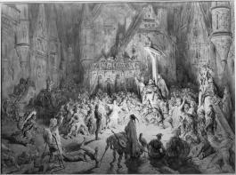Représentation romanesque du Paris dangereux avec la cours des Miracles
